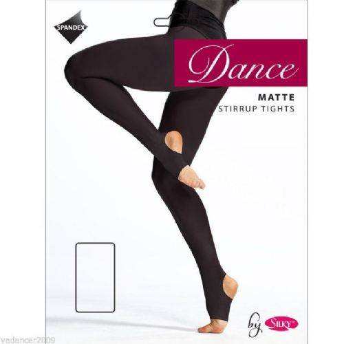 SILKY DANCE TIGHTS Stirrup Foot Black Ladies 70 Denier Microfiber Matte Finish